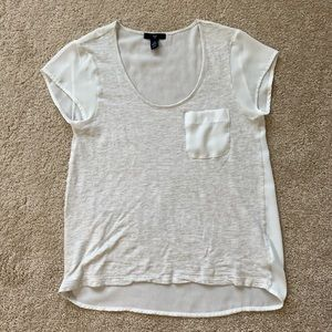 GAP T-shirt with sheer sleeves and back